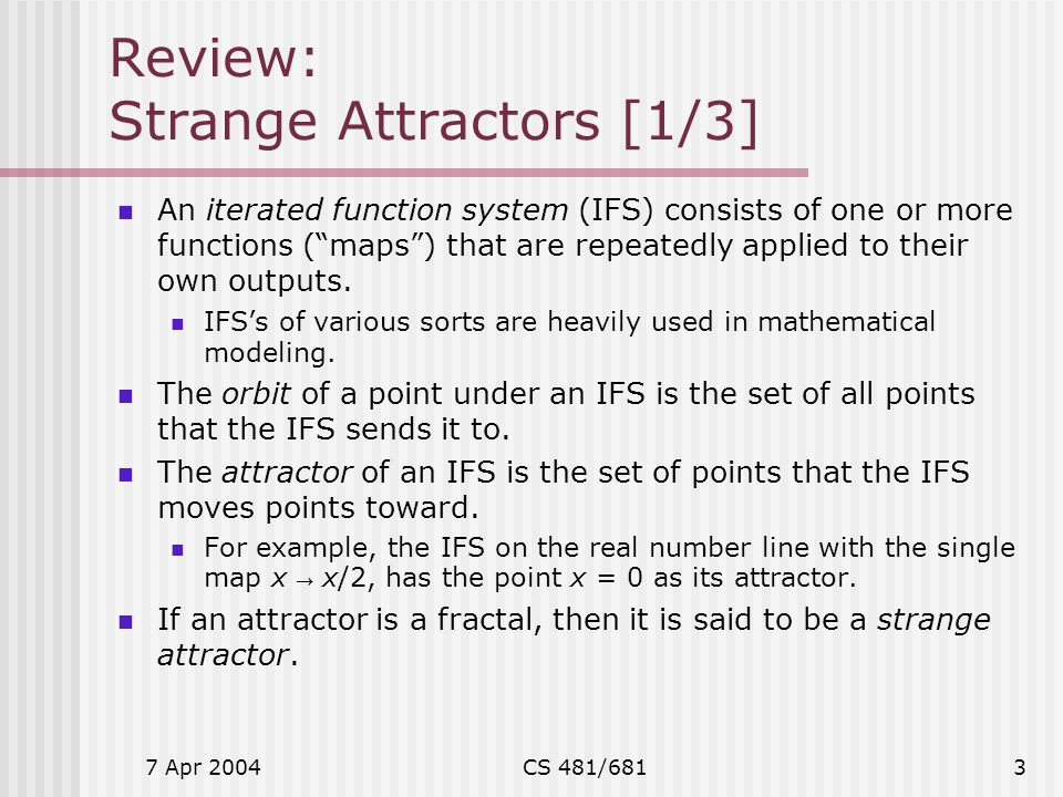 Review: Strange Attractors [1/3]